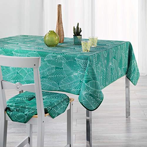 Arte Provenzale TOVAGLIA ANTIMACCHIA Dis.Gatsby Vert Rettangolare 8/12 posti - 240 x 150 cm.