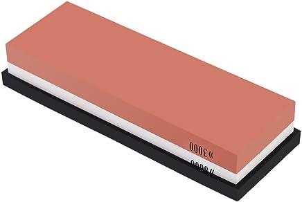 Anself 3000/8000 Grit Combination Corundum Whetstone Dual Sided Knife Sharpening Stone with Base
