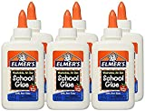 Elmer's Washable No-Run School Glue, 4 oz (6 Pack)