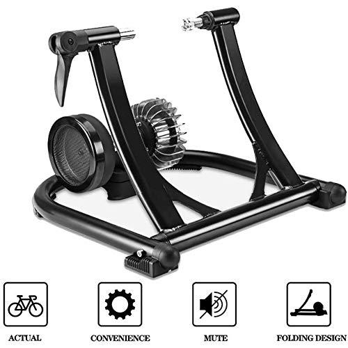 TanceQi Fietswieltjes, inklapbaar, voor indoor trainer, voor mountainbikes, fietsen, op de weg, scooter, station, hometrainer, weerstand, machine voor fitness-training
