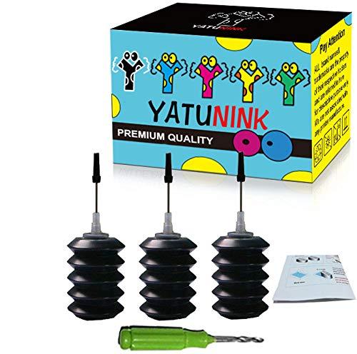 YATUNINK Refill Ink Refill Kit 30ml Replacement for Canon PG-245XL Cl-246XL Refill Ink Kit PG-243 Refill Ink Work with PIXMA MG2520 MG2920 MG2922 MG2420 MG2522 MG2525 MX490 MX492 Printer(3x30ML BK)