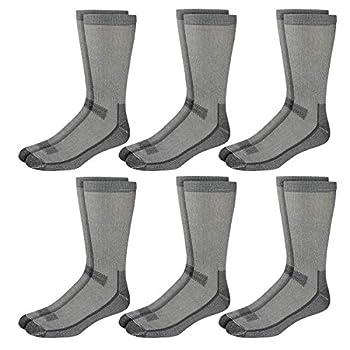 Kirkland Signature Mens 6 Pack Merino Wool Blend Crew Socks Grey  Medium - Shoe Size 10-13   L