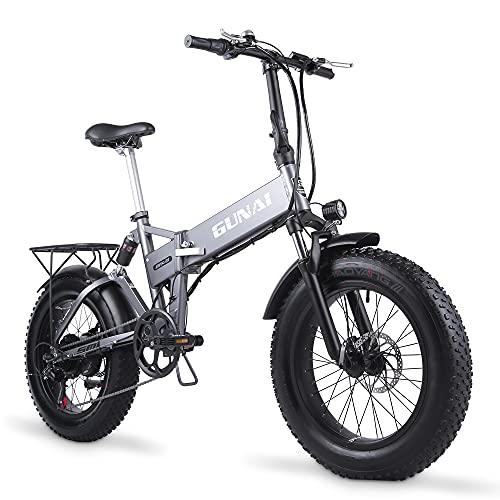 Bicicletas Eléctricas Plegables 500W Marca GUNAI