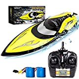 Remote Control Boat [Upgraded 2021] - SHARKOOL 2.4 GHZ 25+ MPH RC...
