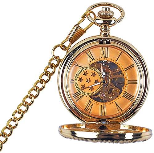 Relojes de bolsillo,Reloj de bolsillo Reloj de bolsillo unisex reloj de bolsillo mecánico antiguo reloj de bolsillo mecánico con cadena como regalo del día de padre Día de San Valentín Unisex Retro si