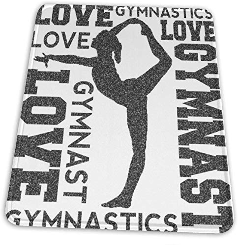 HJJL Mauspad New Love Gymnastics Gaming Mouse Pad Custom-Natural Rubber Mouse Pad-Multiple Sizes-Multi-Pattern,Mouse Pad Non-Slip Rectangle for Computers,Laptop,PC,Office & Home