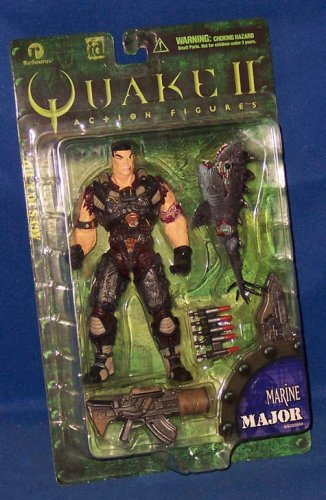 Quake II id Figur Major Marine + Railgun + Plasmagun + Sharkgun (ähnl. Quake III Arena)
