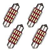 LUMENEX C5W 36mm LED Bombilla CANBUS 6411 6418 para Coche Interior Festoon Luz de Matrícula Luces del Maletero 12V 24V 6500K Blanco 4 Piezas