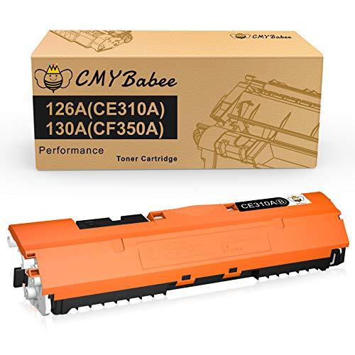 CMYBabee Cartuchos de Tóner Compatibles para HP 126A (CF341A) 130A (CE310A) CF350A para HP Laserjet Pro CP1025 CP1025nw MFP M175a 175nw M176n M177fw HP TopShot Laserjet Pro M275 MFP (1 Negro)