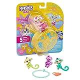 WowWee Fingerlings Minis - Series 2 - 5 Piece Blister - 3 Figures Plus Bonus Bracelet & Charm, Multicolor