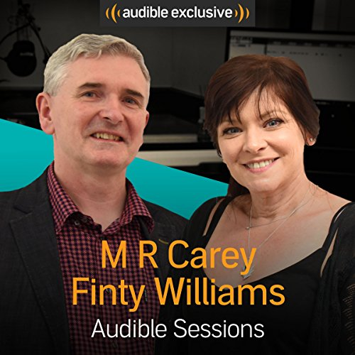 M R Carey and Finty Williams audiobook cover art