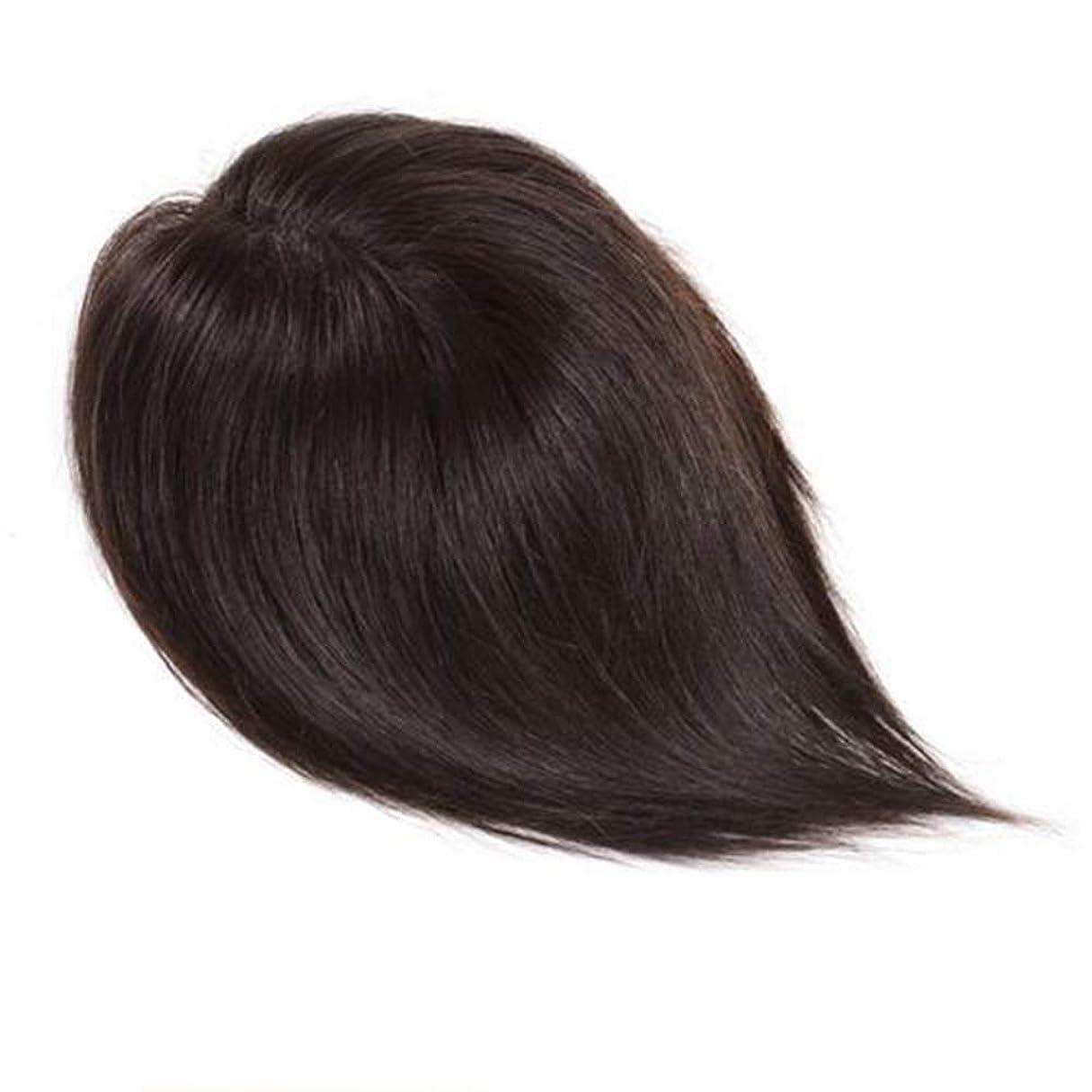 上下するホーム名詞BOBIDYEE 女性のロングストレートヘアハンドウィッグ自然に見える女性のヘアシステム (色 : Natural color, サイズ : 25cm)