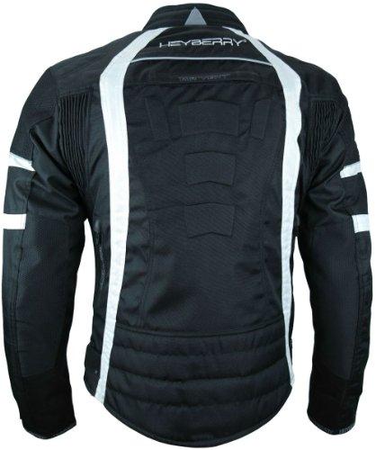 Heyberry Damen Motorrad Jacke Motorradjacke Textil Schwarz Weiß Gr. XL / 42 - 5
