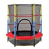 Mini Trampolin Mit Sicherheitsgehäusenetz - Hochwertiges Trampolin Für Kinder Im Innen- Und Außenbereich, 4,6 Fuß, Stummes Elastisches Seil-Trampolin,Bungeeseil-Federung