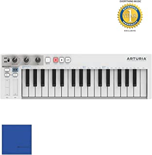 Arturia KeyStep 430201 32-key Compact Keyboard Controller/Sequencer with Microfiber and Free EverythingMusic 1 Year Extended Warranty