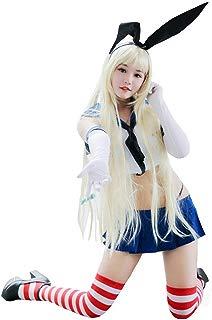 Womens Shimakaze Cosplay Sailor Suit Schoolgirl Uniform Costumes Full Outfit