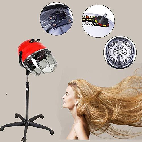 FDCJK Professionnel Salon Casque Sèche Cheveux sur Pied Sechoir avec Roulant Base pour Coiffeurs de Famille Ou de Salon