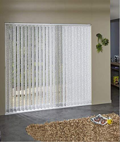 Láminas verticales tamizantes estampadas para persianas californianas, 089 mm x 280 cm, color blanco