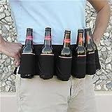 LnLyin 6er Pack Tragbar Flasche Taille Bier Guerteltasche Handliche Weinflaschen Getraenkehalter