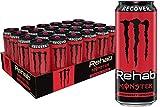 Monster Energy Monster Rehab Strawberry Lemonade + Energy, 15.5 Oz (Pack Of 24)