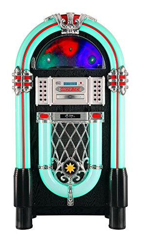 Beatfoxx Jukebox Goldenage años 40/50 con LP, CD, USB, Reproductor MP3, Radio y...