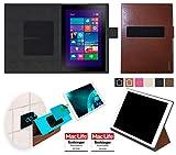 reboon Hülle für Dell Venue 10 Pro Tasche Cover Case Bumper | Testsieger | Braun Leder