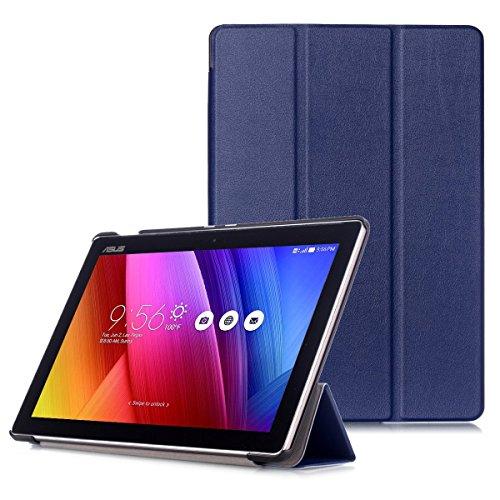 ASUS ZenPad 10 Funda - Carcasa Ultra Delgado con Cubierta de Soporte y Función Auto Sueño / Estela para ASUS ZenPad 10 Z301M / Z301ML / Z301MF / Z301MFL / Z300M / Z300C 10.1' Tablet, Azul Oscuro