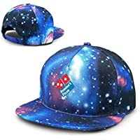 Rogerds Unisex Gorra de béisbol,Sombreros de Verano Domino's Pizza Starry Sky Cap Canvas Trucker Hat for Ourdoor Sports