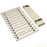 Continental Sleep 0.75-Inch Standard Mattress Support Wooden Bunkie Board/Slats, Queen, Beige