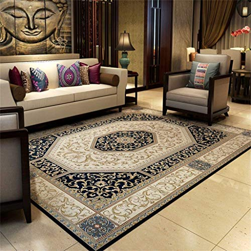 KTDT geweven slijtvaste anti-slip grote tapijt/vierkante vloerbedekking/woonkamer/slaapkamer/computerstoel/tafel/bank mat (kleur: B, Maat : 160x230cm)