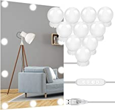 TXG Luces para Espejo Maquillaje 10 Bombillas LED,Lámparas del Espejo Maquillaje 3 Colores,Luces del Espejo de Tocador con...