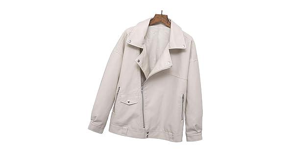 HUIGE leren jack dames PU zachte korte mantel casual revers