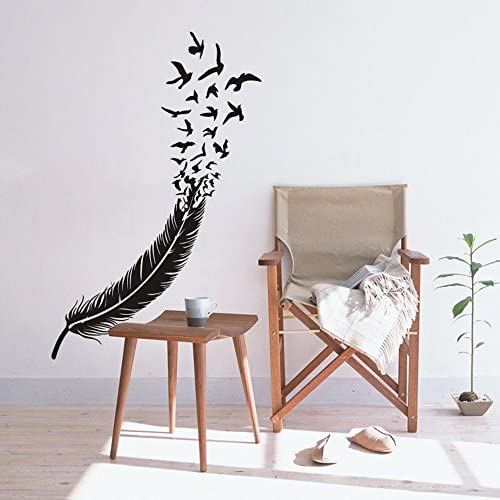 FlyWallD Birds of a Feather Wall Decal Flying Birds Vinyl Art Stickers Living Room Bedroom headboard product image