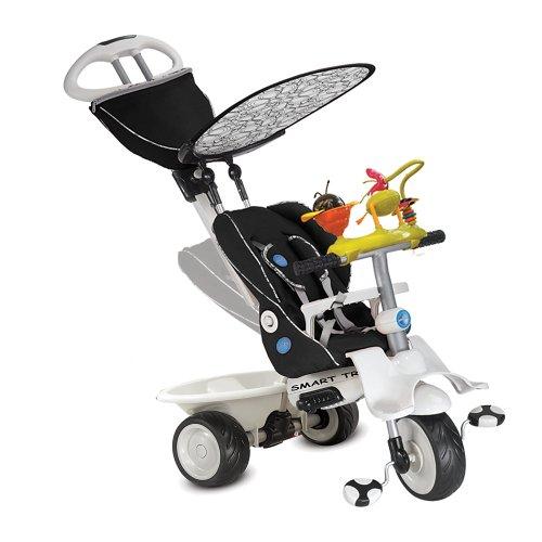 Smart Trike ligstoel, zwart en crème