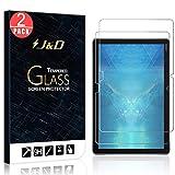 J&D Compatible para Huawei MediaPad M5 Lite Protector de Pantalla, 2-Pack [Vidrio Templado] [NO Cobertura Completa] Cristal Templado Protector de Pantalla - [NO para MediaPad M5/M5 10 Pro/M5 10]