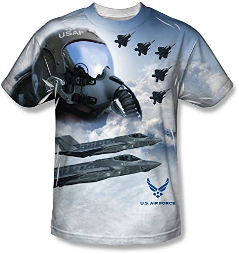 Air Force - - Pilot jeunesse T-Shirt, X-Large, White