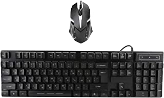 Keyboard Mouse Combo, USB Wired Keyboard Mouse Set General Mechanical Feel Floating,Both Keyboard and Mouse Have Adjustabl...