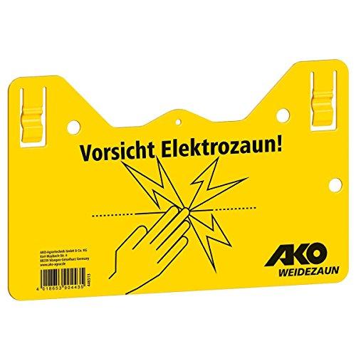 Kerbl Warnschild Hook - in 2-seitig Bedruckt, deutsch
