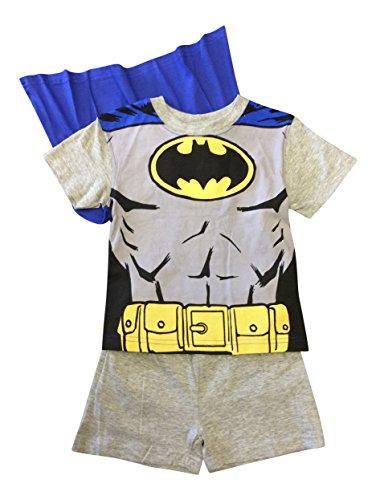Batman Shorties Jungen Pyjama Set Alter 2-6 (2, Grau)