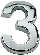 Zhyaoyao-huis nummer 3D cijfers 0-9 huisnummer teken zelfklevend adres cijfer sticker plaat numerieke deurplaque, brede to...