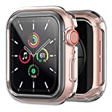 amBand Protector Apple Watch Serie 6/SE/5/4/3/2/1 40mm, Funda Apple Watch con Vidrio Templado,Protector Pantalla iwatch Serie 6/SE/5/4/3/2/1- Clear