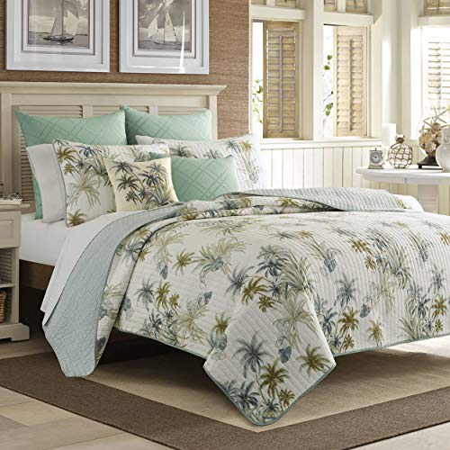 Tommy Bahama Home Serenity Palms, Full/Queen, Blue