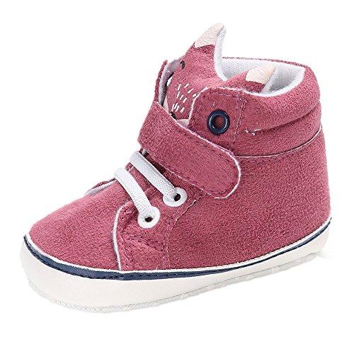 Babyschuhe Mädchen Jungen Schuhe Fox Sneaker Krabbelschuhe Kinderschuhe Moginp(6-12 Monate,Hot Pink)