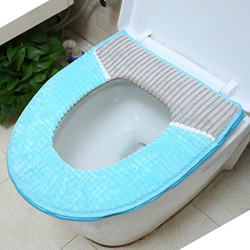 BGTRRYHY Set di 2, Sedile WC per WC Estivo Cuscino Sedile per Water Impermeabile per casa Tappetino Closestool Lavabile con Cerniera Universale