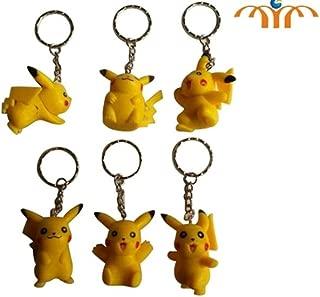 Pokemon Pikachu Figure Keychain 6 pc Set