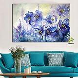 Bytfaa Carteles de Pintura de orquídeas de Flores abstractas Modernas e Impresiones Cuadro de Arte de Pared para la decoración del hogar de la Sala de Estar 60x90cm