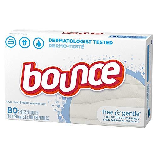乾燥機用 柔軟シート Bounce バウンス フリー&ジェントル 80枚 無香料 [並行輸入品]