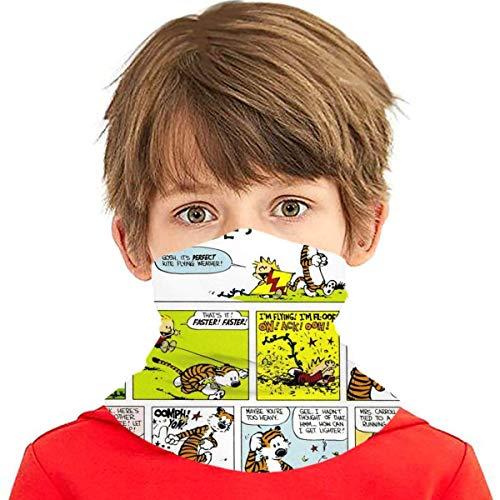 Enfriamiento Cara cubierta Calvin-And-Hobbes Diadema Bandanas Bucal Cubierta Cuello Polaina Adolescentes Al Aire Libre Polvo Magical Multi