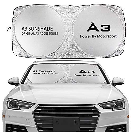 Parasole per parabrezza Automobile parabrezza Sun Shade Cover Compatibile con Audi A3 8P 8V A4 B8 B6 A6 C6 A5 S1 S2 S3 S4 S5 S6 S7 S8 SQ5 SQ7 Accessori Anti UV Protector Parasole (Color : For A3)