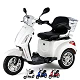 VELECO Tricycle électrique Mobilité/Loisirs Scooter Senior Handicapé Affichage numérique Panier 25 km/h (Blanc)